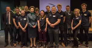 Princess Anne + young ambassadors