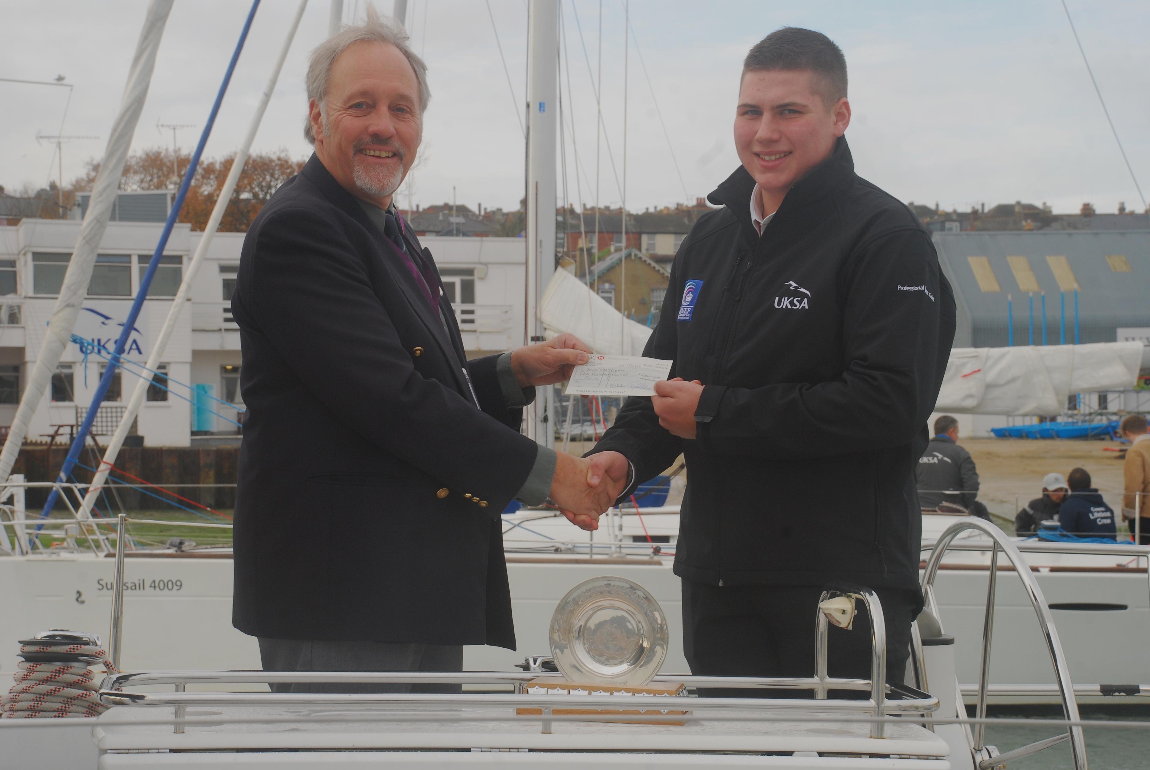 Sea Cadet awarded maritime award by Fisgard Association - UKSA