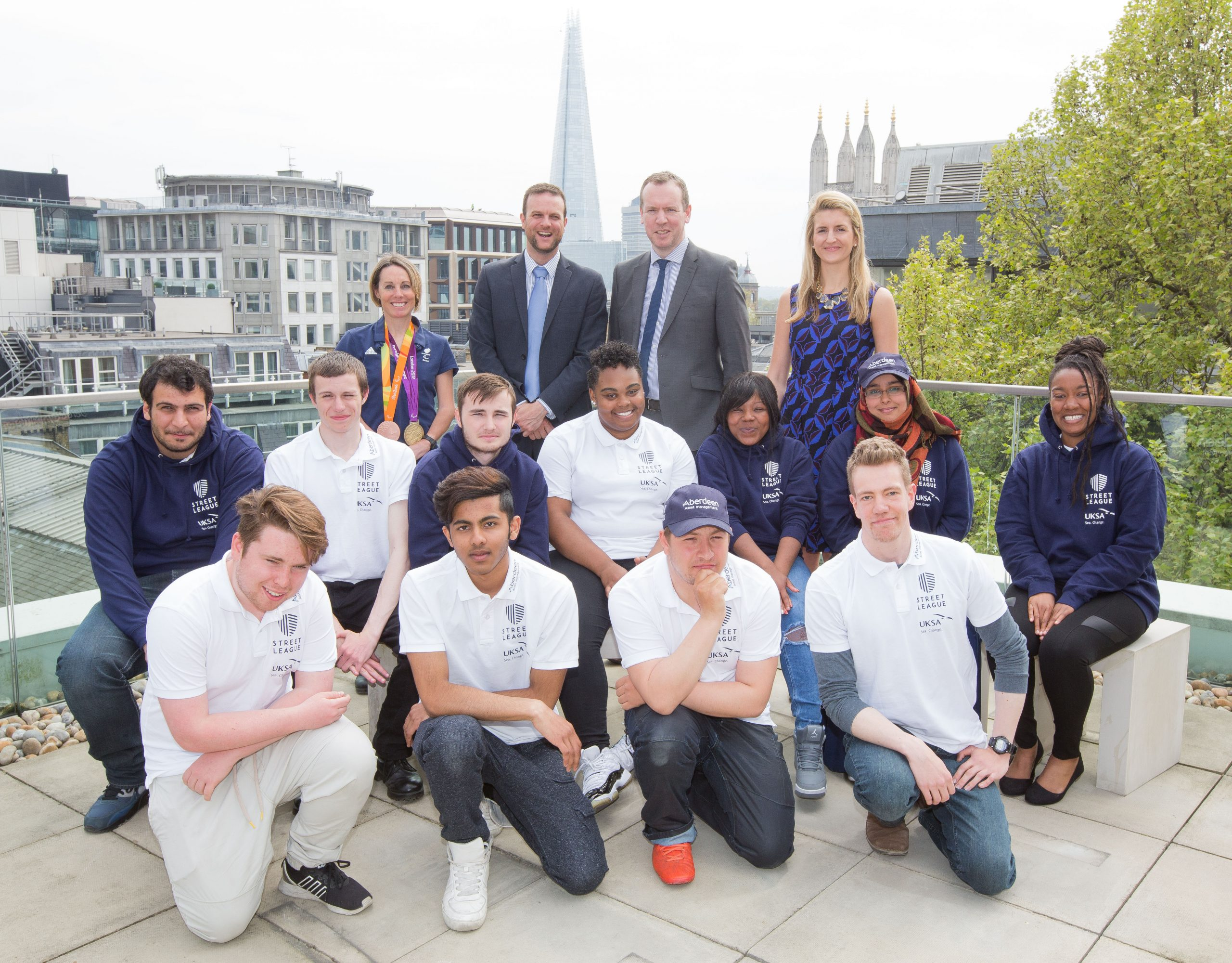 Street League students with UKSA CEO, Ben Willows
