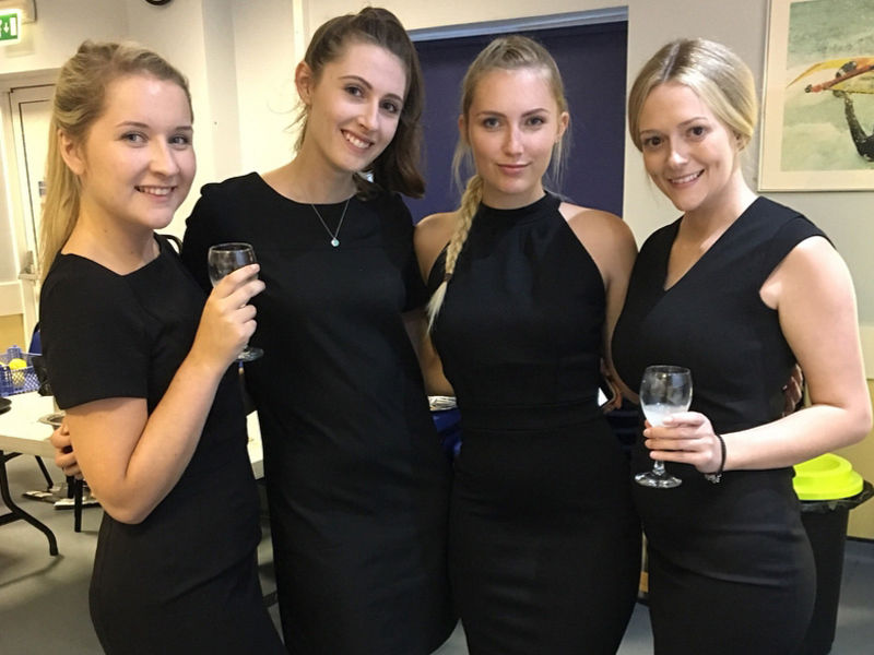 Brooke-Garwood with other students