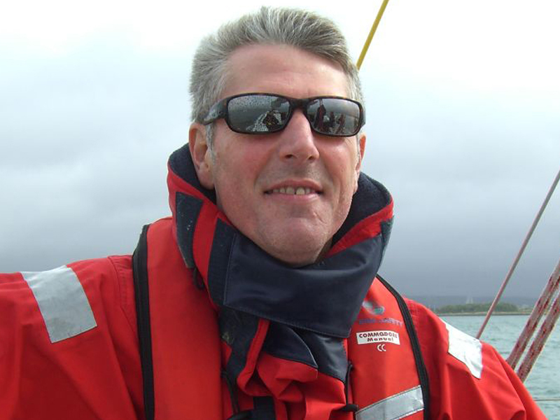 Dave Whitehouse learning on the solent