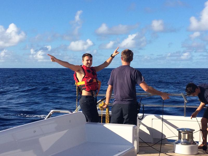 Jack Dykes at sea