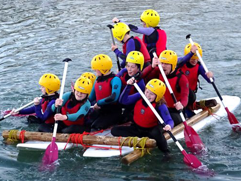 Longlands Primary developing their team-building skills on the water with UKSA