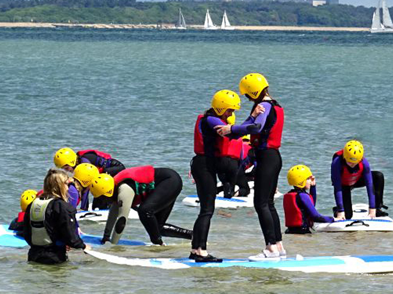 Longlands Primary enjoying practical water-based skills with UKSA