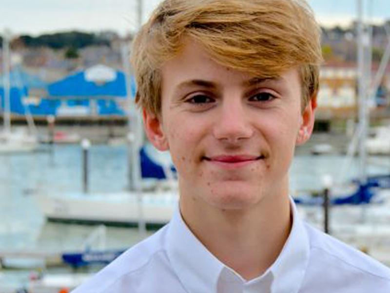 Superyacht cadet student Max Thomlinson
