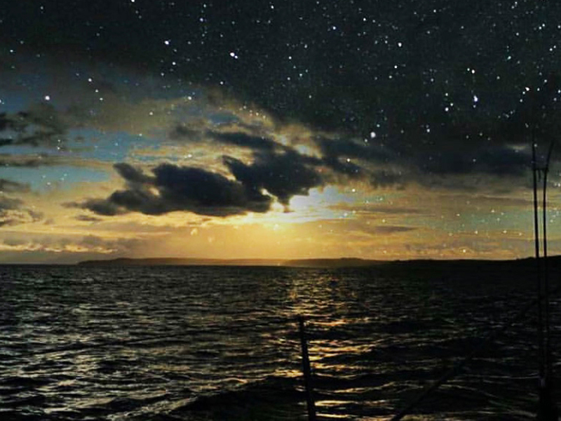 Ollie Garton stars and sea at night