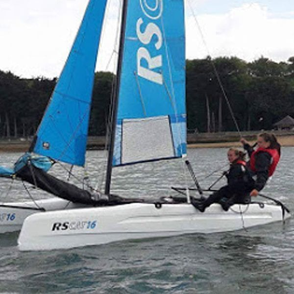 Rachel Brazier training as a watersports instructor on the solent