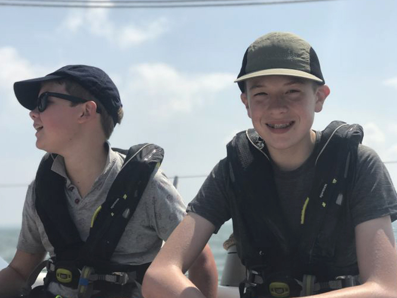 Royal Navy Sea Scouts enjoying being out on the solent