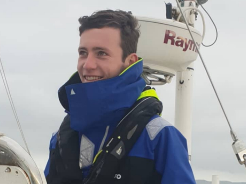 Sean Starkey expanding his skills and experience onboard a yacht
