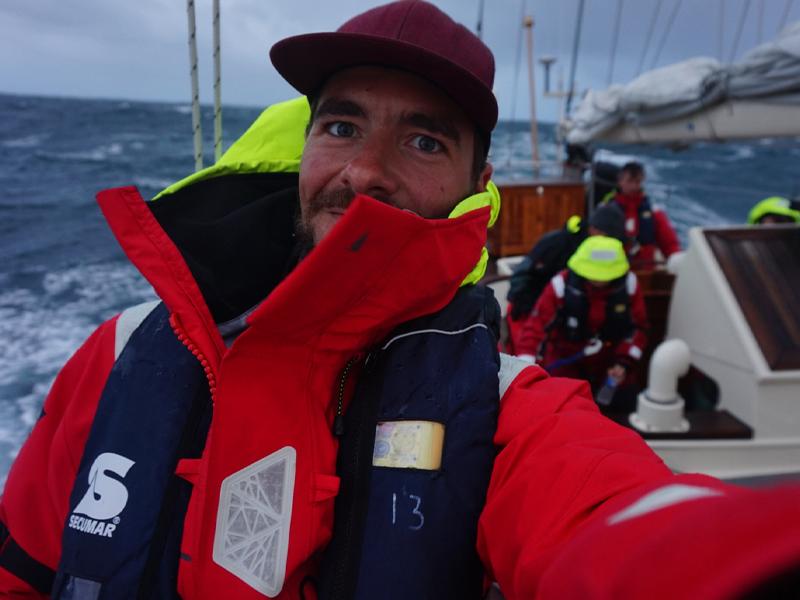 Sjoerd Resink Pyo at sea