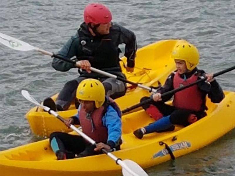 St Augustines School children kayaking