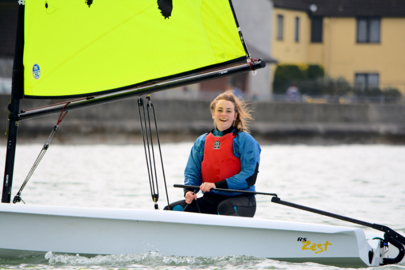Watersports Instructor Development Programme student in a dinghy