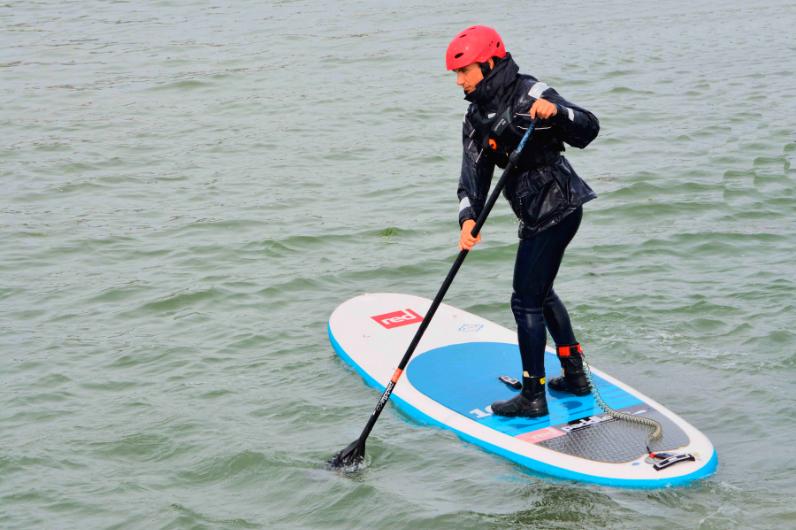 Kickstart Student stand-up paddleboarding