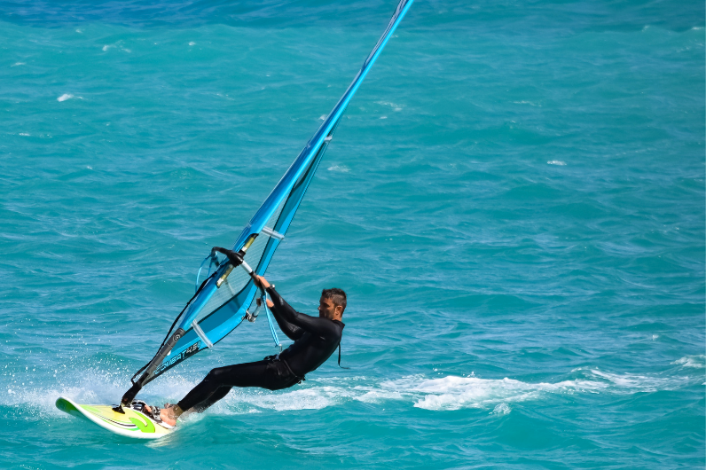 Watersports Instructor Training Student windsurfing
