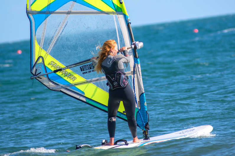 Watersports Instructor Development Programme student windsurfing