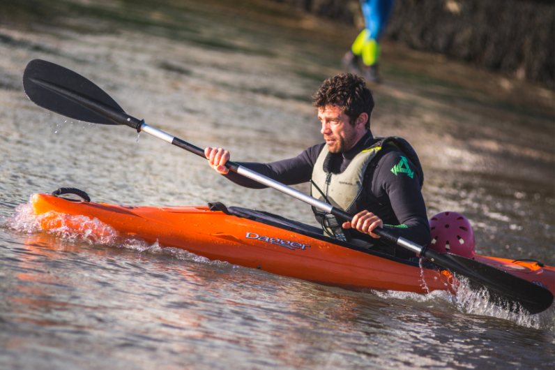 Watersports Instructor Training Student kayaking