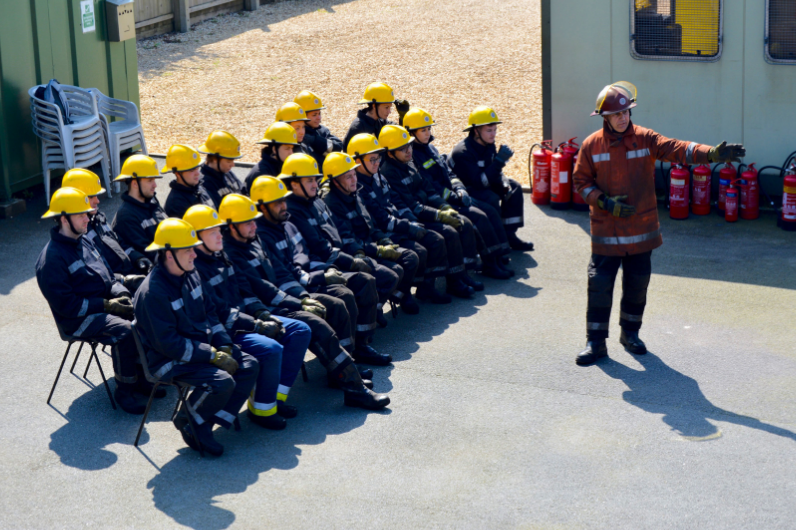 Advanced Fire Fighting UKSA Group at the Firegrounds
