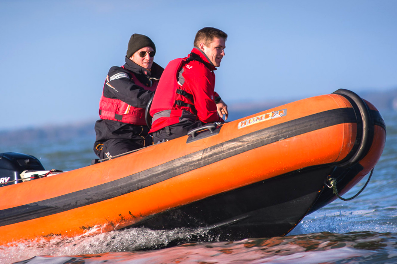 Maritime Foundation Student on the Powerboat Level 2 Course