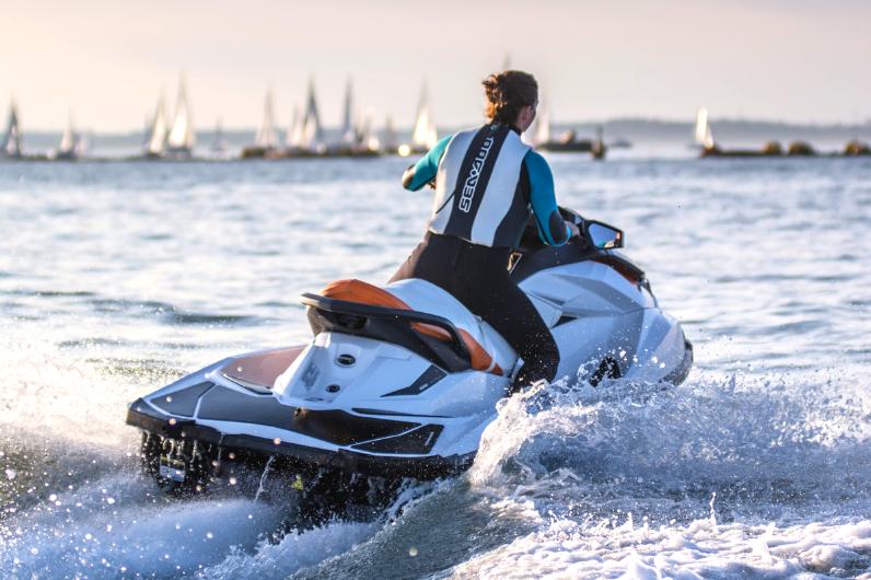 Maritime Foundation student on a Jet-Ski