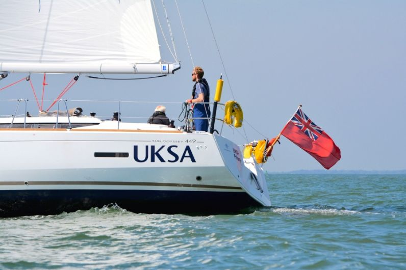 UKSA Sailing yacht on the Solent