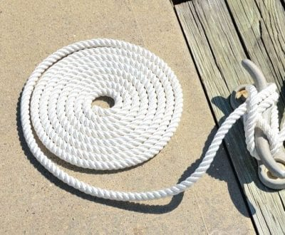 Rope tied into a round ball
