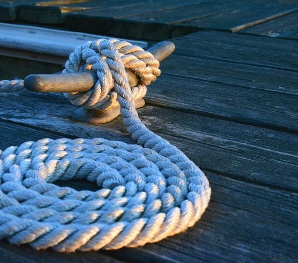 Rope which is presented in a circular design