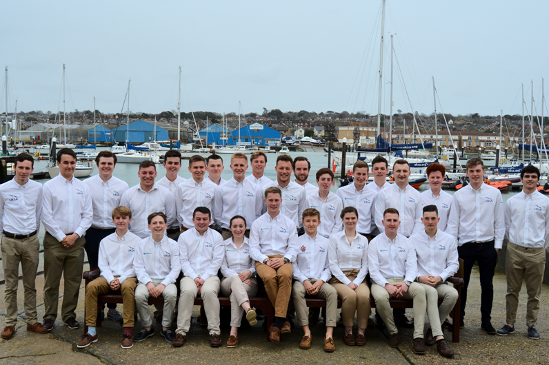 A group photo of Superyacht cadetship students