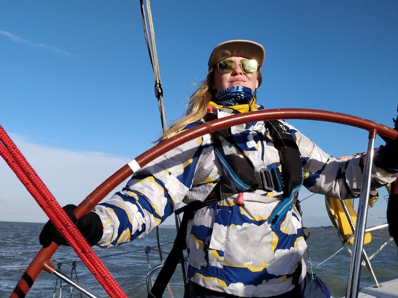 Lisa James sailing