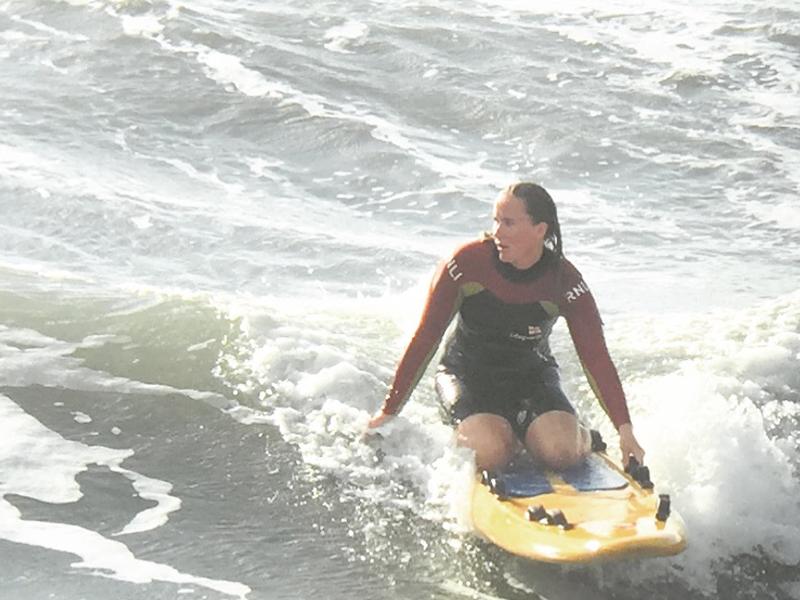 Lisa James knee boarding