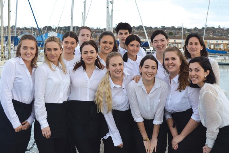 Superyacht Hospitality Training graduates