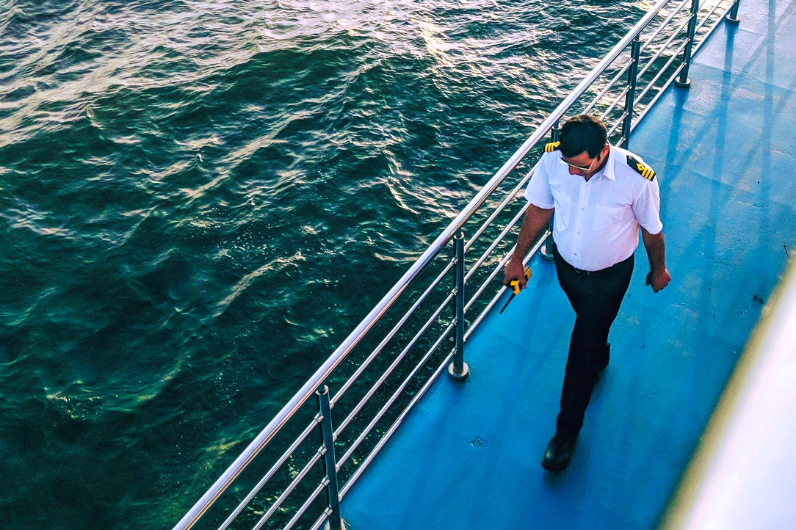 A captain onboard a superyacht