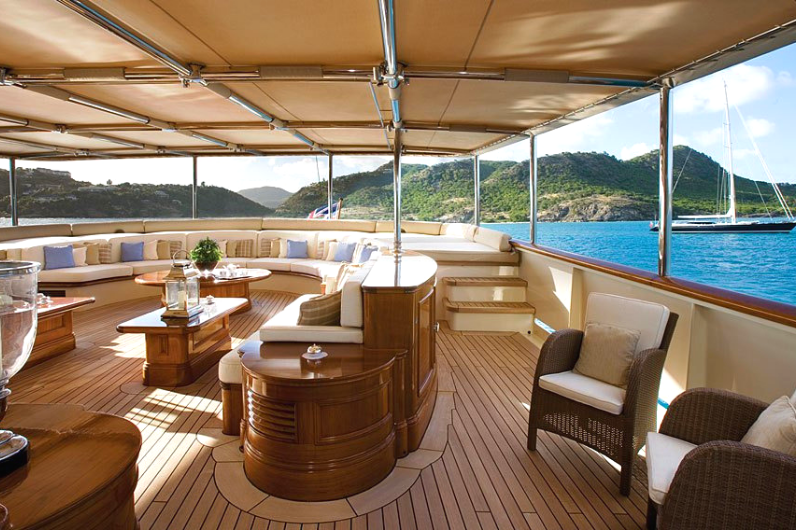 Onboard a superyacht whilst travelling the world