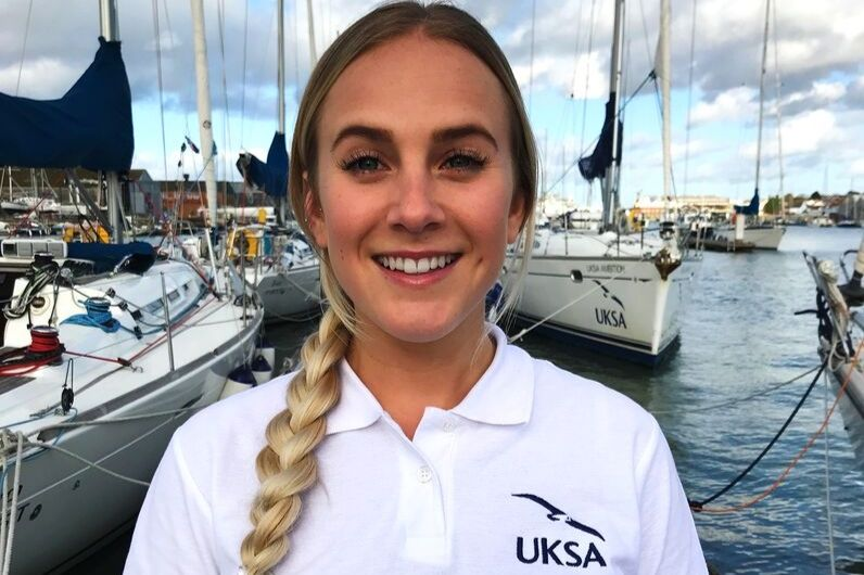 Maria Barratt, smiling after completing UKSA Superyacht Hospitality Training course