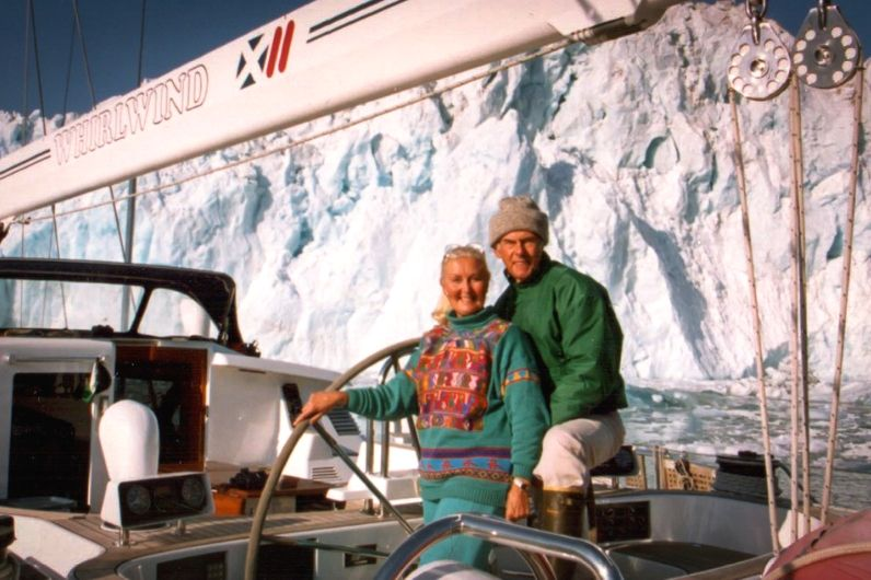 Noel and Silvia Lister onboard a yacht