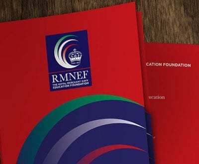 A close up shot of the RMNEF brochure
