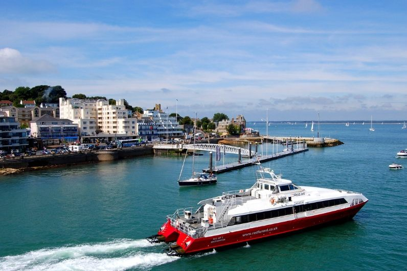 The Red Jet Hi-Speed passenger service travelling from West Cowes to Southampton