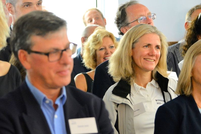 Friends and supporters of UKSA attending a charity event