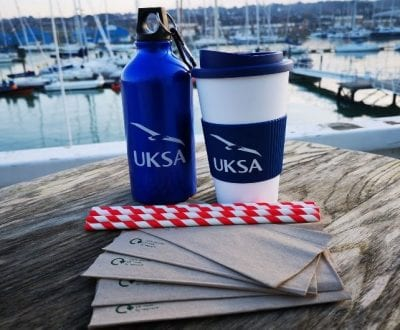 UKSA sustainable bottles, coffee cups and straws