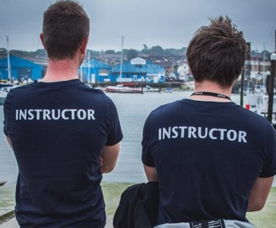 Two UKSA watersport instructors