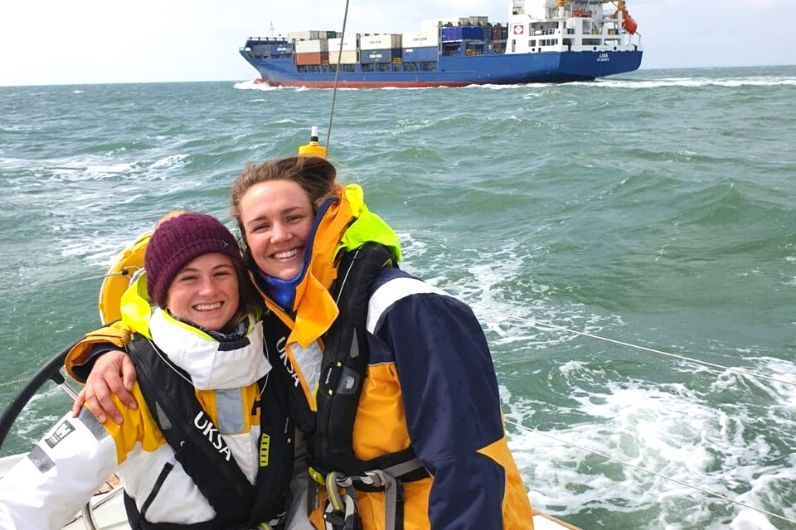Two UKSA students on the Solent training
