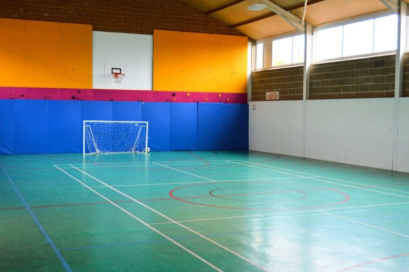 Inside of the UKSA sports hall