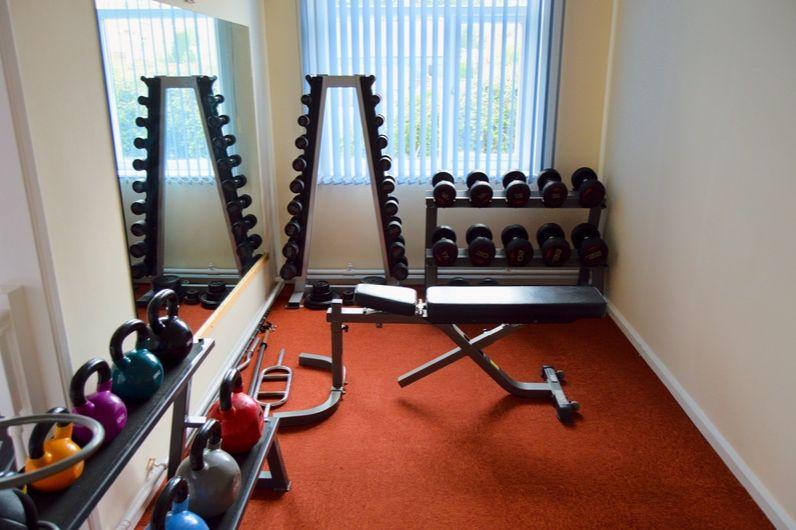 Inside of the UKSA gymnasium