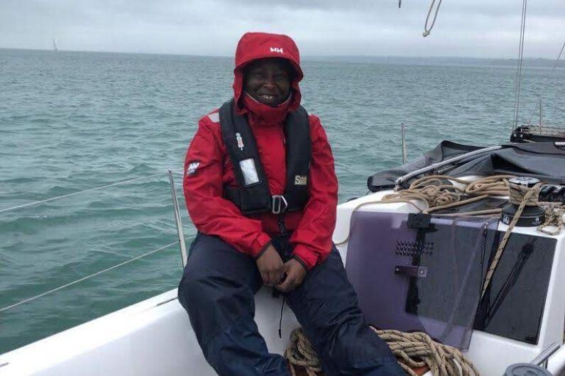 Lungi Mchunu sat on a yacht