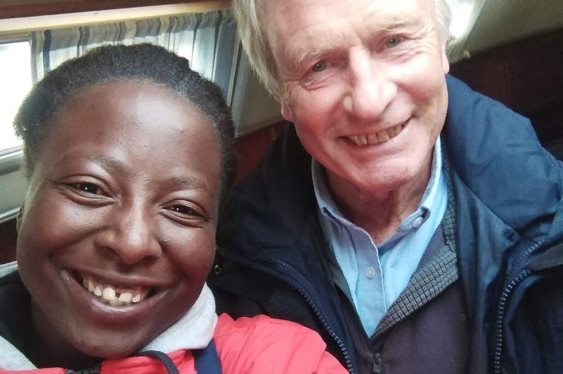 Lungi Mchunu with Trinity House funder James Stevens