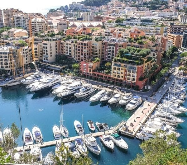 monaco harbour with docks and yachts
