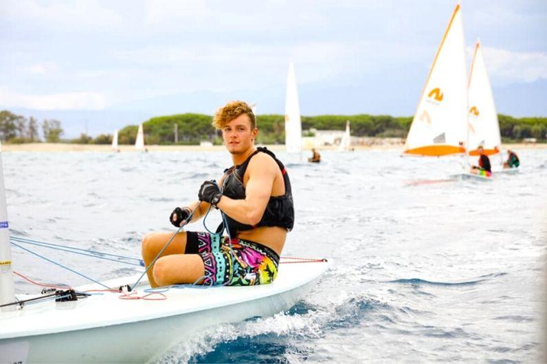 Sam Reading on a dinghy