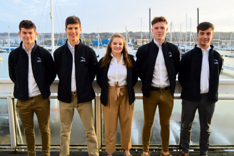 Superyacht Cadets standing at ease