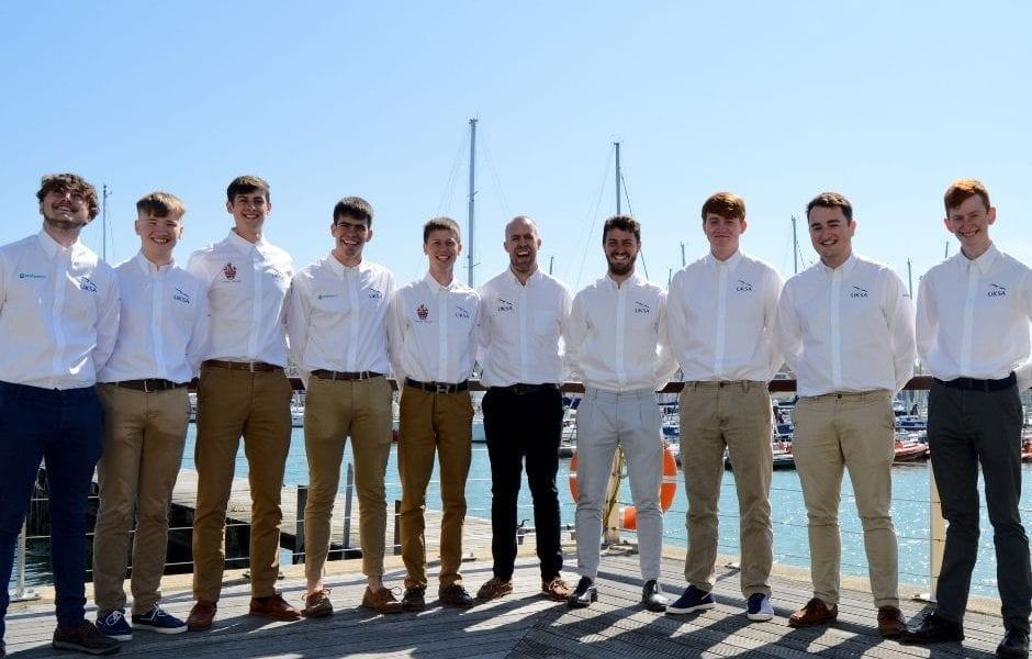 A group photo of the UKSA Superyacht Cadets