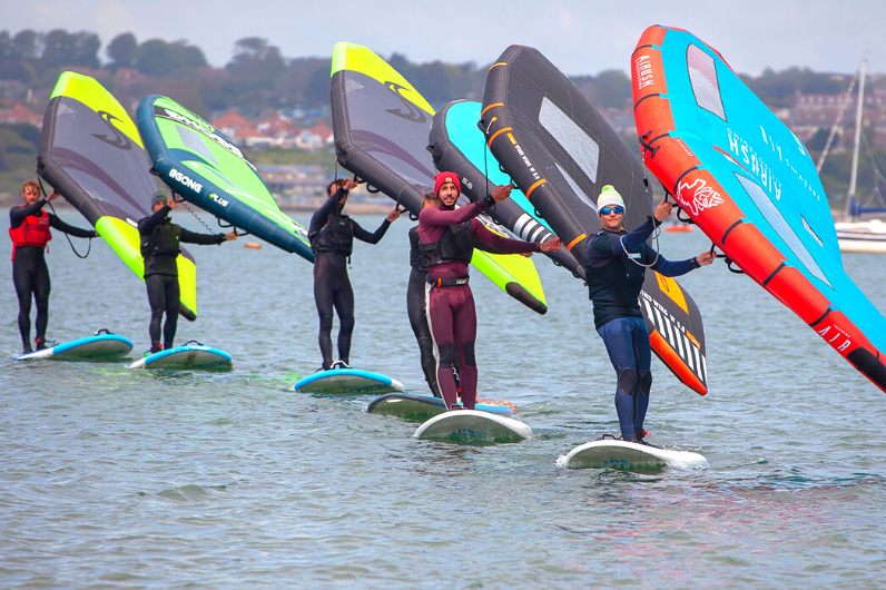 wingsurfing on the Solent
